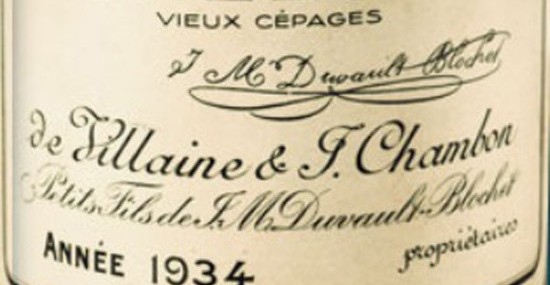 One Of The Rarest Bottles Of Wine In The World, A 1934 Vieux Cepage, May Bring $50,000
