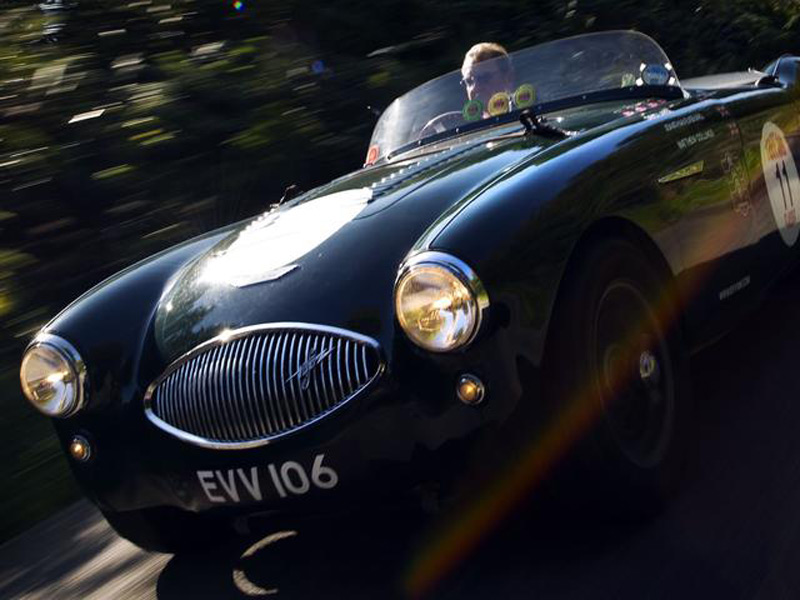 EX-DAVID SHALE/ARTHUR CARTER 1955 AUSTIN-HEALEY 100S FOR SALE AT BONHAMS