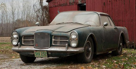 Rare 1962 Facel Vega Car Found In A Barn
