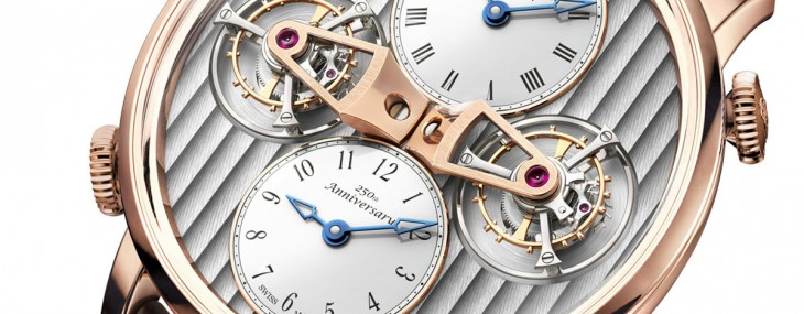 Arnold & Son Celebrates 250th Anniversary with Unique DTE: Double Tourbillon Escapement Dual Time Watch