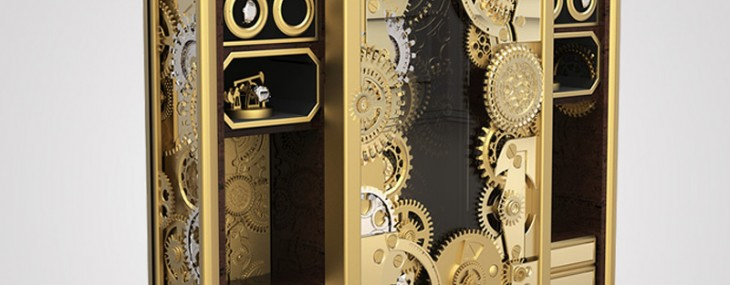 This $80K Steampunk inspired Baron Safe-Box by Boca do Lobo is a treat for the eyes