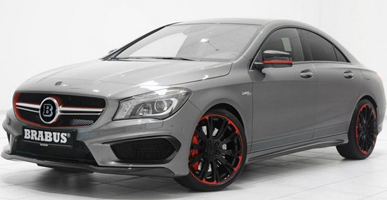 modified Mercedes AMG CLA45