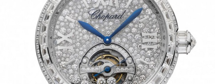 Chopard's Happy Sport Tourbillon Joaillerie combines Happy Diamonds and haute horlogerie