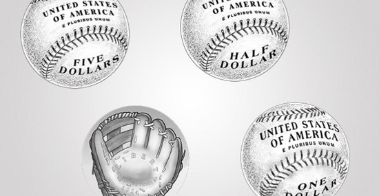 U.S. Mint's first curved coin to honor Baseball Hall of Fame