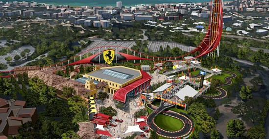 New Ferrari Land Theme Park Near Barcelona