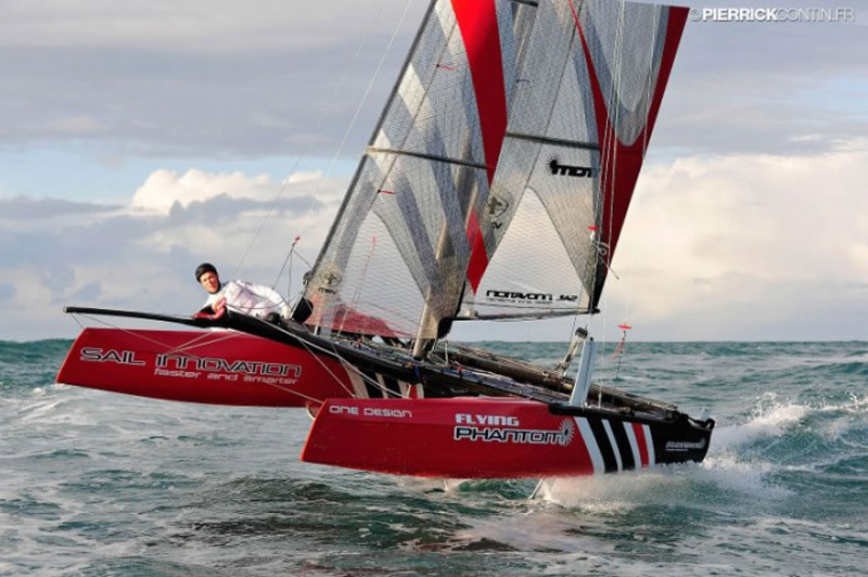 This $40,000 catamaran for amateur sailors flies two feet above the waves
