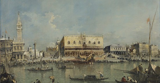 Venice, the Bacino di San Marco with the Piazzetta and the Doge's Palace