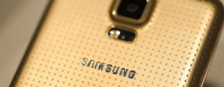 Gold Samsung Galaxy S5 exclusively for Vodafone UK