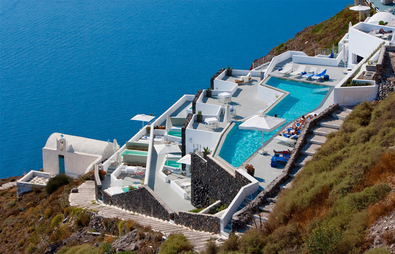 Award winning grace santorini hotel with crazy infinity pool extravaganzi - Santorini infinity pool ...