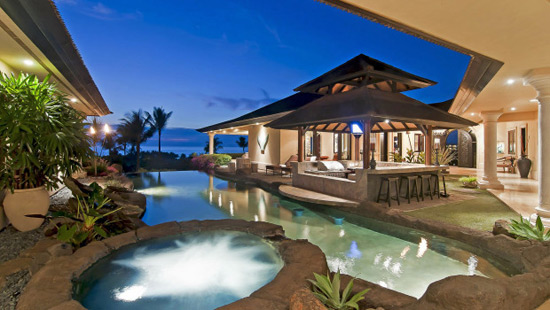 Hale O'ola - Luxury Villa with Waterfalls in Hawaii