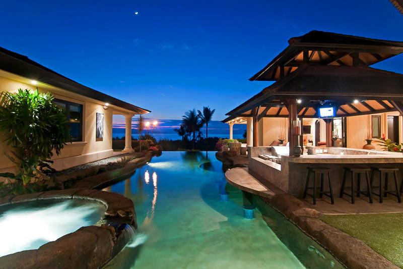Hale O 39 Ola Luxury Villa With Waterfalls In Hawaii