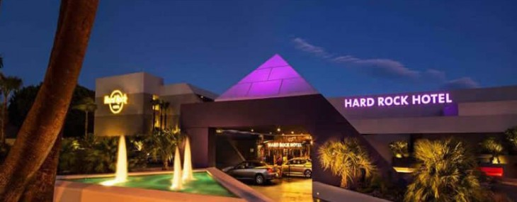 Hard Rock Hotel Palm Springs Opens Up By Smashing Guitars