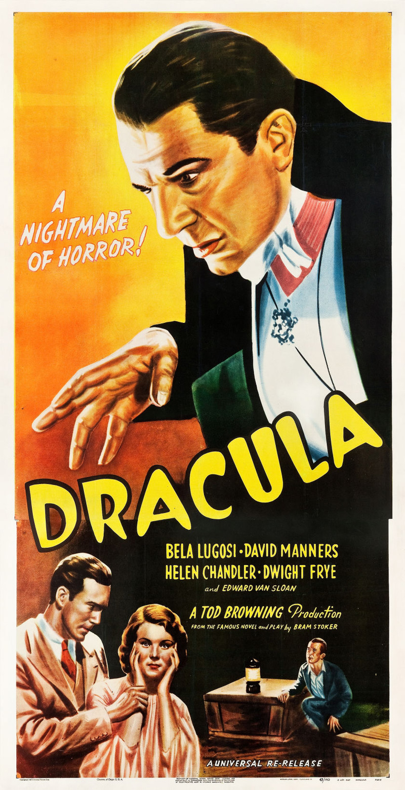Rare Dracula Three Sheet Movie Poster May Scare Up Big Results