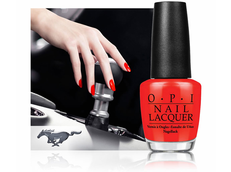 'Race Red' OPI-Limited edition lacquer celebrates Ford Mustang's 50th anniversary