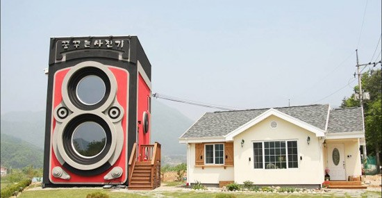 Unique Rolleiflex Camera House In South Korea