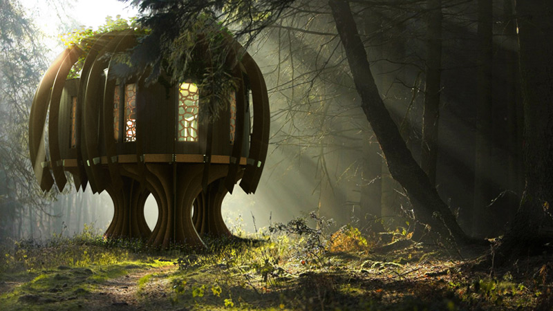 Blue Forest's Quiet Treehouse Combines Childlike Whimsy With Technological Advancements