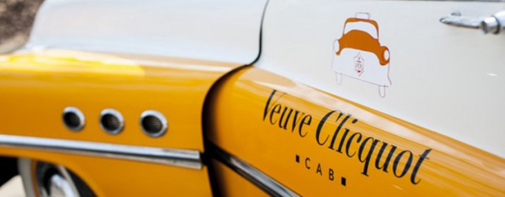 Clicquot cabs will take you on a whimsical Champagne ride in May