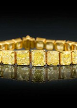 $2,5 Million for Natural Fancy Vivid Yellow Diamond Tennis Bracelet