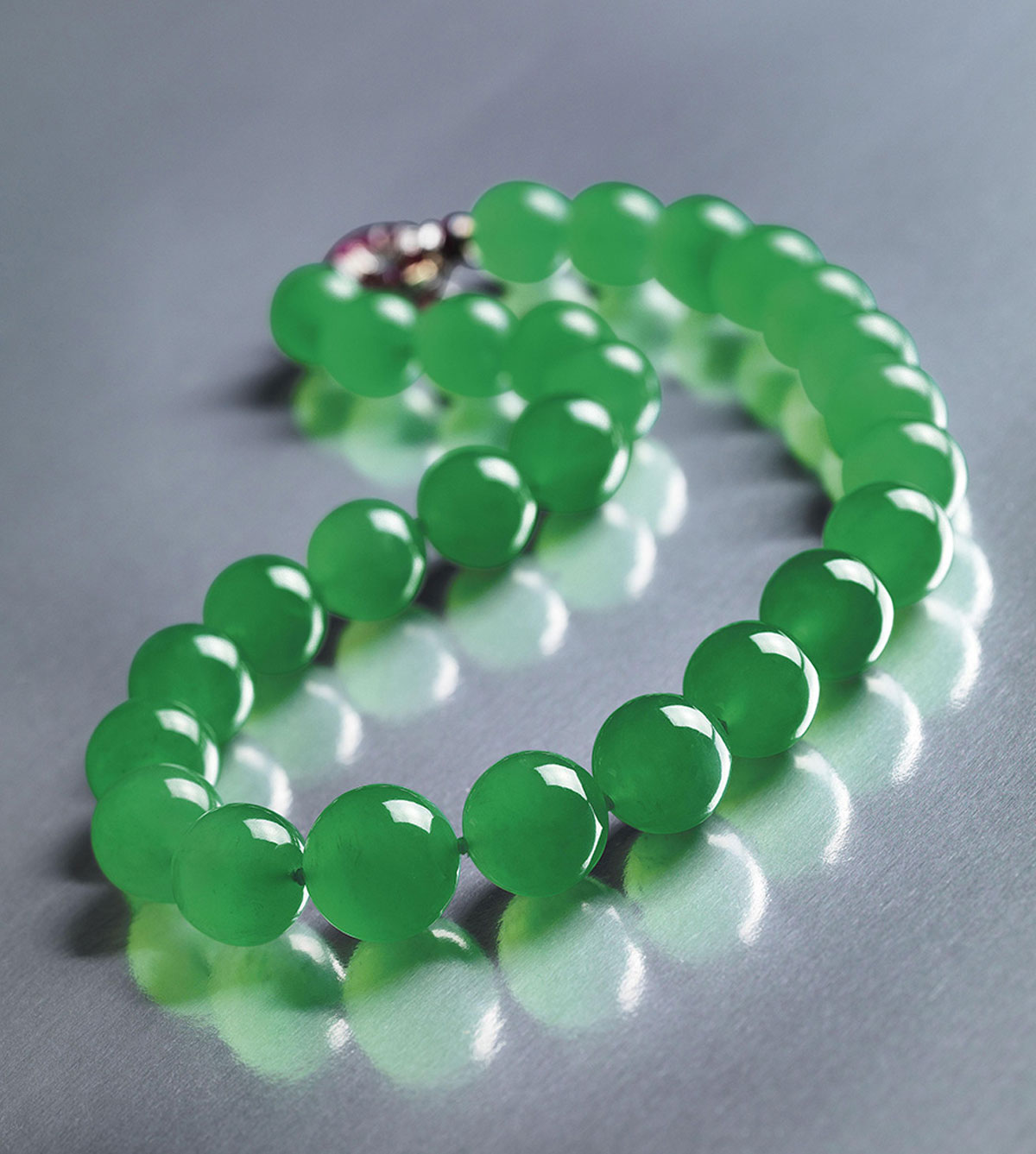 view of shop graduated click bead green larger museum jade item the necklace art for