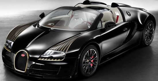 Veyron Grand Sport Vitesse Black Bess, made in honor of Bugatti Type 18 Black Bess