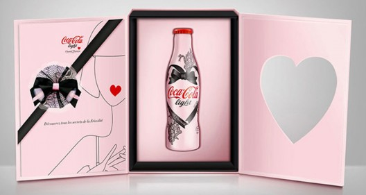 Lingerie Designer Chantal Thomass dresses up Coca-Cola in lace and satin ribbons for Spring