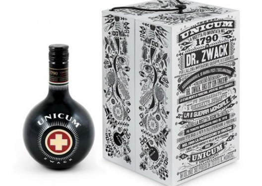 The bitter Unicum is offered to the temptation of customers with a special edition signed by Lorenzo Petrantoni, which offers pleasing aesthetic qualities and organoleptic characteristics