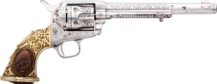 Nimschke-Style Engraved Colt Single Action Army Revolver With Tiffany Grips Shipped