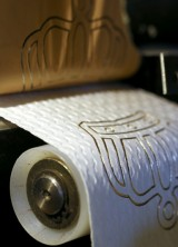 Luxury Toilet Paper With 24-Carat Gold Motifs