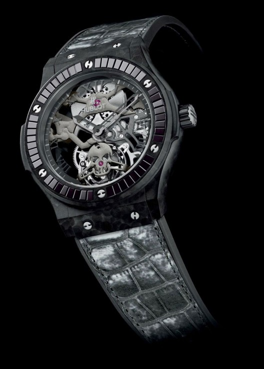 Hublot has presented eight new models at the ongoing 2014 Baselworld, some including an entirely new material to the watchmaking industry