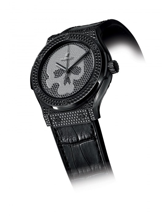 Hublot Classic Fusion Skull Pavé replica watch