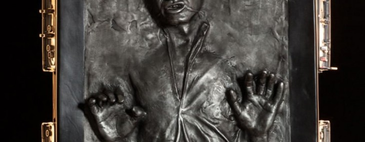 Complete your Star Wars collection with this life-size Han Solo in Carbonite replica on sale for $7000