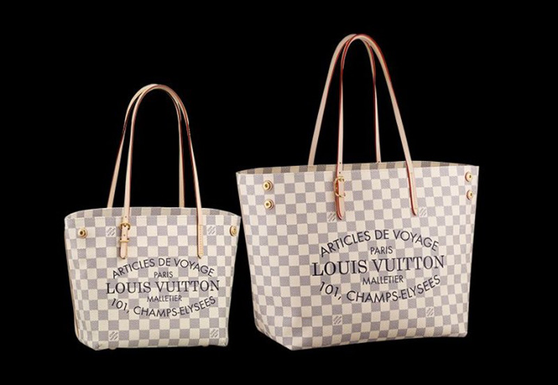 Louis Vuitton Cabas In Damier Azur Coated Canvas