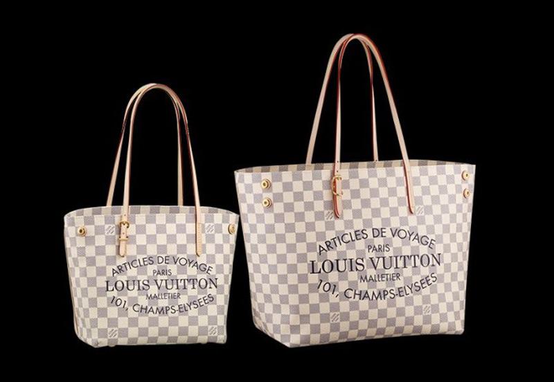 Louis Vuitton Cabas In Damier Azur Coated Canvas