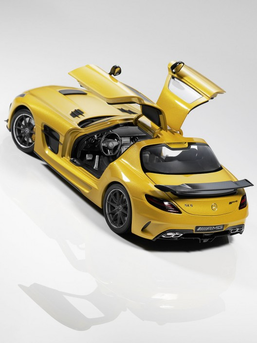 Minichamps its SLS AMG Black Series 1:18 offers at a price of 99.90euros($137), which is much less than its bigger, original version.