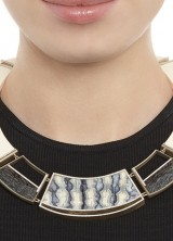 Monique Pean Fossilized Woolly Mammoth And White Diamond Collar Necklace