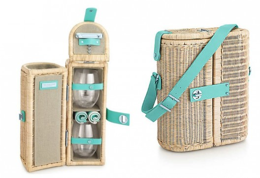 Tiffany Wine Carrier And Picnic Basket Adds Style To Al Fresco Dining