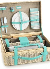 For Picnic in Style – Tiffany Wine Carrier And Picnic Basket
