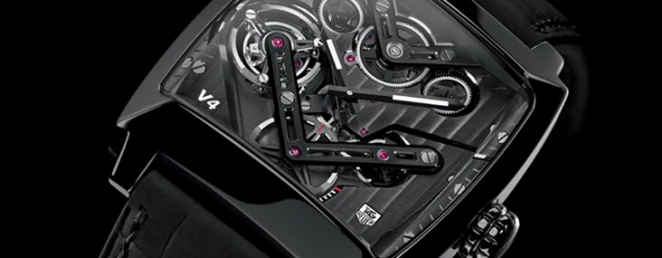 2014 TAG Heuer Monaco V4 timepiece is the world's first belt-driven tourbillon