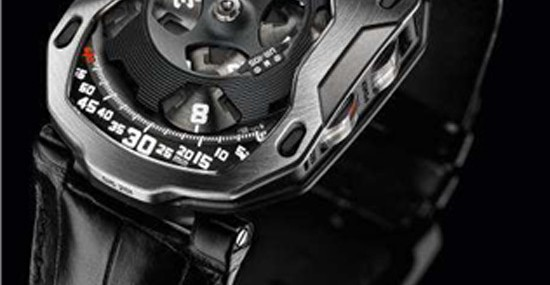 "URWERK unveils the UR-105M ""Iron Knight"" and ""Black Knight,"""