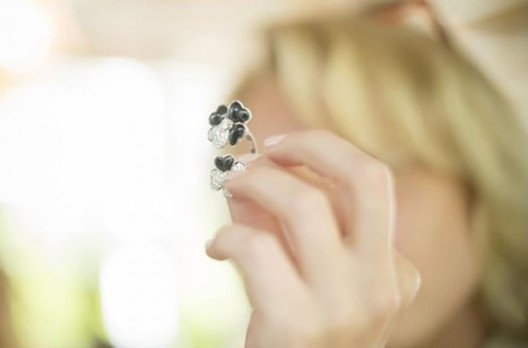 Floral filled Cosmos jewelry by Van Cleef & Arpels pays homage to spring and luck