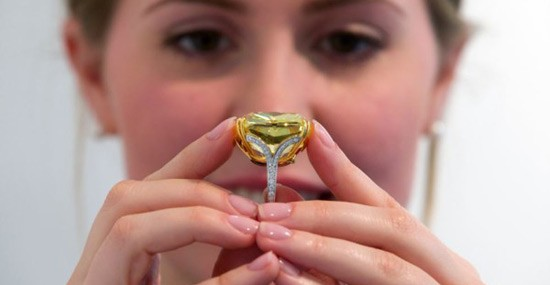 One of the World's Largest Fancy Vivid Yellow Diamonds at Sotheby's Geneva Auction