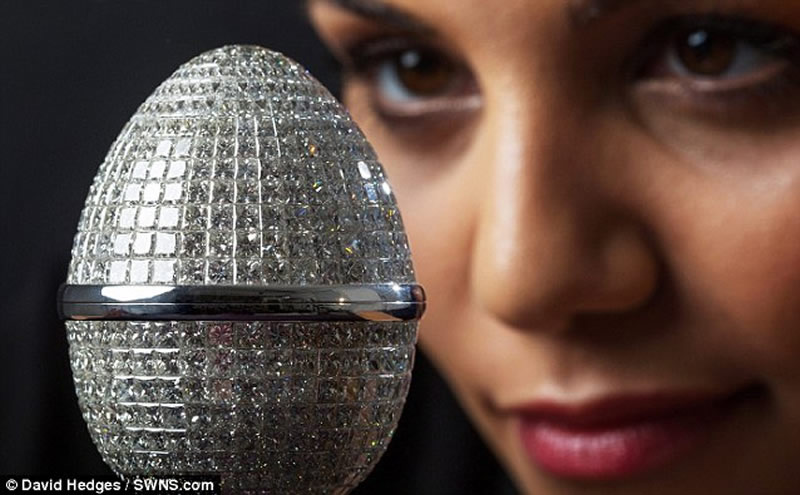 World's Most Expensive Easter Egg Dazzles With A Diamond-Studded Shell