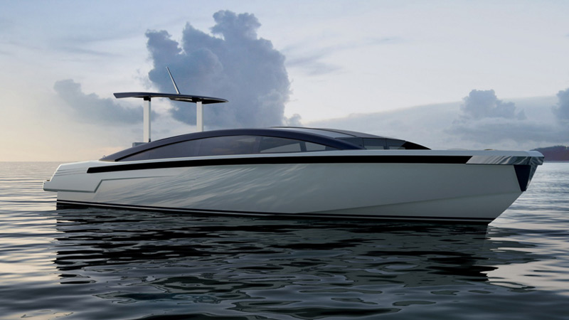 """9.5m Limousine Tender Made to Accompany 73m """"Mothership"""""""