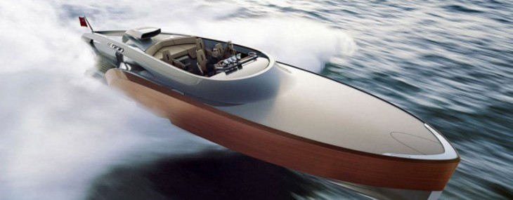Aeroboat, a $5 million carbon fiber superyatch powered by the legendary Rolls-Royce Merlin V12 engine
