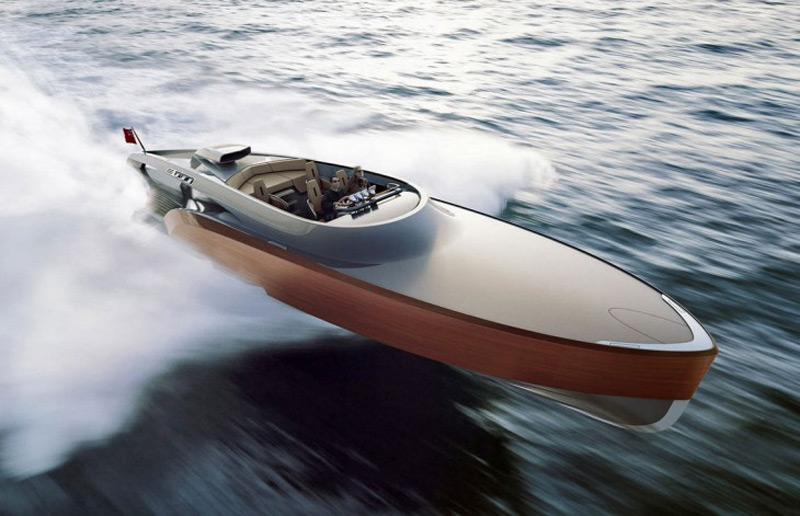 Aeroboat, a $5 million carbon fiber superyatch powered by the legendary Rolls-Royce Merlin V12 engine