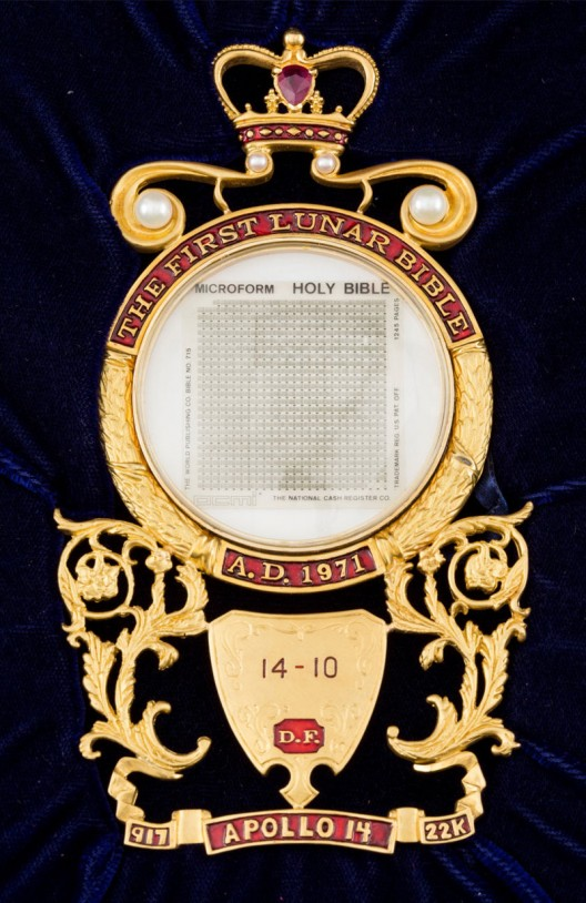 Complete 'Lunar Bible,' Flown To The Moon's Surface Aboard Apollo 14