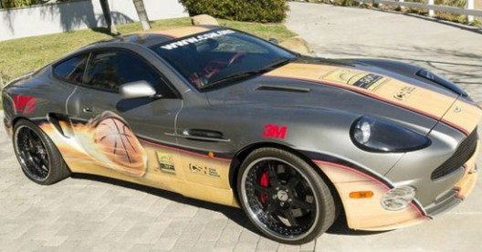 Aston Martin With Signatures Of The Famous NBA Players