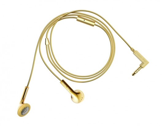 Upgrade Your Look with Happy Plugs' Gold Earbuds