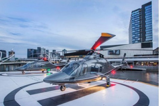 Mercedes Organizes Helicopter Transport For Their Customers