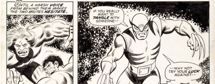 Original Art From Wolverine's First Appearance Will Set World Record